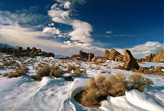 Suprise Snow  R188N24A (Ken Hornbrook - inspirationalphotoimages.com) Tags: snow rock landscape calif lonepine alabamahills
