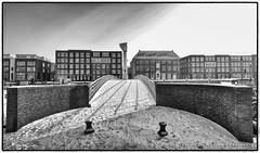 Achterhaven, Delfshaven (PvRFotografie) Tags: bridge winter bw snow rotterdam zwartwit sneeuw brug delfshaven achterhaven thedefiningtouch vocbrug deftouch