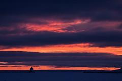 Layered sunrise (KarenR-TB) Tags: winter lighthouse ontario sunrise lakesuperior thunderbay