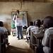 Raising landmine awareness in Bangboka, Democratic Republic of the Congo