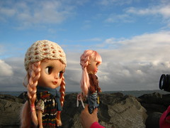 IMG_4200...A fun day with my friend at the beach.  How fun we had taking photographs of our Blythe dolls!