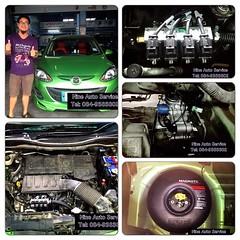 Mazda 2 Donut 38 ลิตร สามารถชมงาน ติดตั้งแก๊ส LPG ได้ที่ Nine Auto Service ลำลูกกา คลอง 6 โทร 084-9383802 http://www.facebook.com/nineautoservice.2011