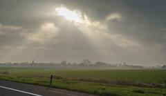 Dutch landscape #634 (lambertwm) Tags: light sun dutch clouds landscape licht countryside cloudy foggy meadow wolken farms hazy zon bewolkt hollands weiland harlingen landschap mistig platteland boerderijen heiig