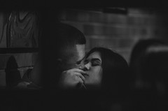 Sweet Love (Vadim.Cojuhov) Tags: 2 two portrait people blackandwhite cinema man love film girl monochrome bar contrast canon restaurant cafe kiss shot skin random sweet sensitive pair lips story tape frame layer moment care cinematic noize caress 70200 tenderness feelings draft 6d pellicle
