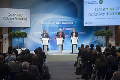 José Viegas, Hans Christian Schmidt and Norbert Barthle address the press