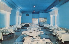 Pompeii Room, Lorenzo's Restaurant, Niagara Falls, Ontario (SwellMap) Tags: architecture vintage advertising restaurant design pc cafe 60s fifties postcard suburbia style diner kitsch retro truckstop nostalgia chrome americana 50s roadside cafeteria googie populuxe sixties babyboomer consumer coldwar snackbar eatery midcentury spaceage driveinrestaurant atomicage