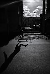 There goes that shadow... (fcribari) Tags: street shadow brazil sky blackandwhite bw monochrome brasil clouds streetphotography skate fujifilm streetphoto recife pretoebranco pernambuco 2016 fotografiaderua x100t