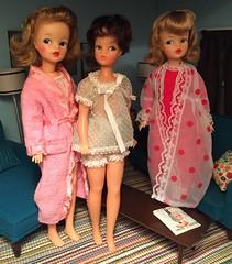 Night Owls (Foxy Belle) Tags: scale modern vintage living miniature doll furniture room barbie craft tammy bubble 16 brunette pajamas mattel diorama dollhosue