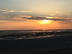 Sunset on the beach (romain.cacace) Tags: ocean sunset sea sun mer france colour beach de relax soleil sand no coucher sable filter contraste plage catchy nofilter color enjoylife romantique