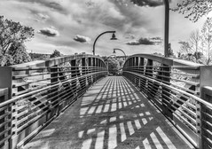 Downingtown Bridge (Daveyal_photostream) Tags: bridge sky urban blackandwhite geometric beautiful beauty lines nikon shadows angles hdr d600 nikor mycamerabag mygearandme meandmygear