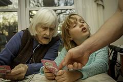 Quick peek ! (psbell2) Tags: family grandma cards games peeking
