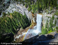 Yosemite National Park (DGNacho.com) Tags: california trip travel blue trees vacation tree green fall nature water forest canon wow landscape rainbow nevada hike falls yosemite teamcanon