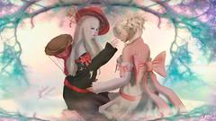 Red and White (Anita Armendaiz) Tags: life hat hair mesh drum head fantasy bow una second sakura genesis whimsical ayashi gacha maitreya vco