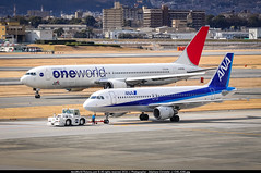ITM.2013 # JL B763 JA8980 & NH A320 JA8654 awp (CHR / AeroWorldpictures Team) Tags: color history japan plane ana airport asia all aircraft nh special apron planes airbus cs nippon osaka boeing jl airways airlines jal towing a320 aircrafts taxiway planespotting oneworld itami itm b767 767300 b767300 a320200 b763 rjoo ja8980 ja8654