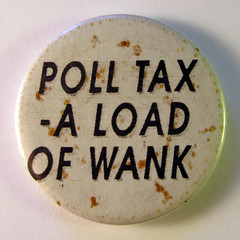 Anti-Poll tax badge