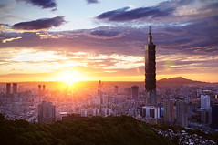 Blooming () Tags: city sunset taiwan 101  taipei        mtelephant
