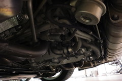 under side of the engine (PorscheConnection) Tags: california los ceramics angeles 911 hills used porsche beverly approved 38 liter 2010 gt3 997 certified cpo pccb 38l preowned
