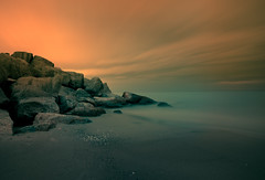 Enjoy The Silence II (Christopher Liando) Tags: ocean lake toronto ontario canada beach water night 35mm ed nikon rocks long exposure angle shots wide cottage wideangle scarborough bluffs bluff 18mm 1835 bluffers d700