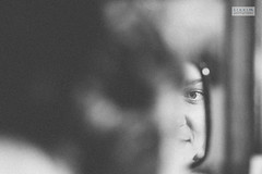 Eyes (ZekaG) Tags: wedding blackandwhite bw reflection canon photography mirror bride gallery photographer makeup weding ready getting
