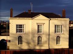 Near Telford's Warehouse (DizDiz) Tags: uk windows england cheshire symmetry chester gateway chimneys olympusc720uz creambuilding countytown