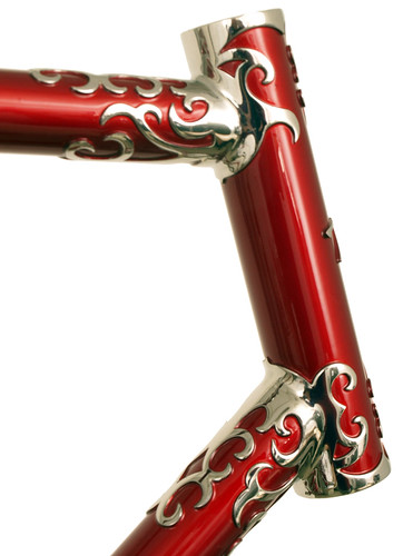 <p>Head tube for Waterford Nuevo-Coco Custom Lug 60cm Frame, made of stainless steel with polished lugs and stays,  62389</p>