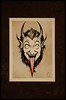 Gruss vom Krampus (Genghis McCampbell) Tags: california christmas tattoo watercolor san paint artist diego card trading painter krampus kustom tattooer