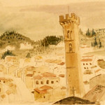 "<b>Fiesole</b><br/> Frans Wildenhain ""Fiesole"" Watercolor & Pencil, 1935 ? LFAC #504<a href=""http://farm8.static.flickr.com/7145/6466263867_00f64e1242_o.jpg"" title=""High res"">∝</a>"
