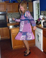 chiffon twirl (gillian .) Tags: tv dress lace feminine chiffon tights transgender mature tranny blonde transvestite heels crossdresser ts tg minidress pantihose
