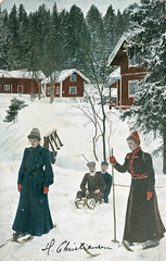 17. desember - December 17 (Riksarkivet (National Archives of Norway)) Tags: christmas snow ski skiing postcard whitechristmas sn christmascard julekort postkort oscarandresen