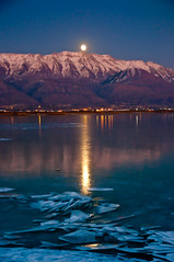 DSC_8270_Moon Rise over Mount Timp (Adam's Attempt (at a good photo)) Tags: mountain ice utah fullmoon moonrise utahlake risingmoon