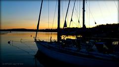 Saltsjöbadens Marina (Papa Razzi1) Tags: blue winter sunset sea water sailboat marina december sweden stockholm saltsjöbaden xperiaarc