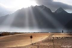 Light (Awais Karim) Tags: morning autumn pakistan light sunset sky landscape nikon desert serenity breathtaking gettyimages northernpakistan superphoto skardu beautifulpakistan concordians nikond700