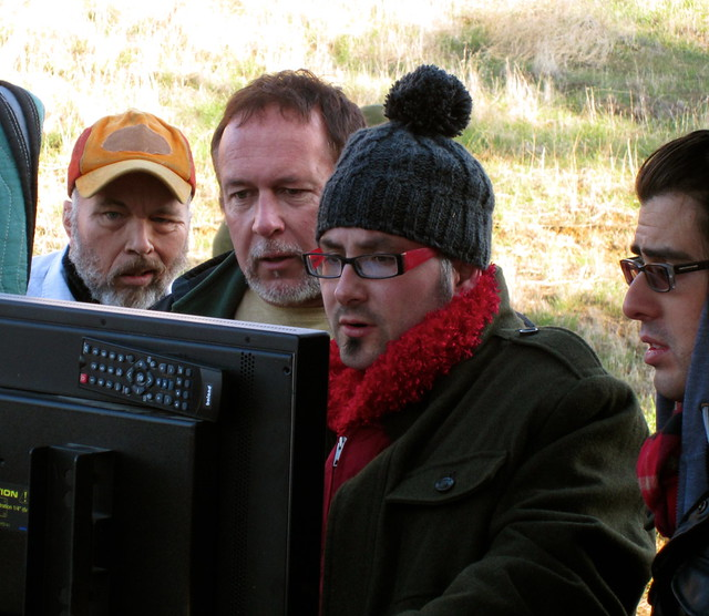 Clint Howard, Royce Dudley, Paul Morrell, Director, Alejo Ramirez, #HUFFmovie , Production Stills