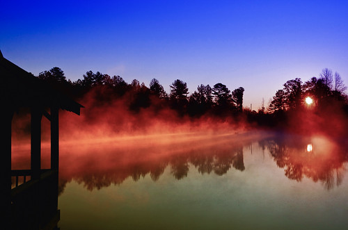 Fog on the Lake at Sunrise