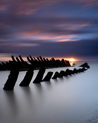 A Study of the Nornen IV (Scott Howse) Tags: uk longexposure sunset england sky cloud water reflections coast sand somerset shipwreck lee wreck filters graduated burnhamonsea berrow nornen nd110 09h