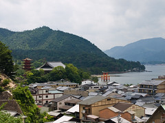 View of Miyajima (Cameron Richardson) Tags: island shrine floating itsukushimashrine tropical shinto torii itsukushima   maiyajima wpjapan