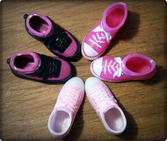 SHOES (Celenia★) Tags: pink shoes doll dal phoebe converse guava blythe obitsu