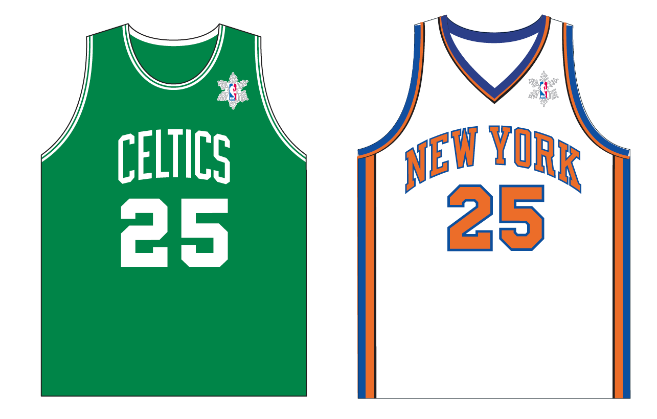 4b32fb3d5 ... snowflake-patterned version of the NBA logo patch ...