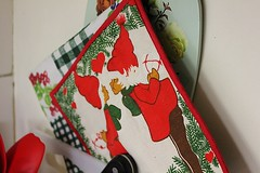 Christmas (Ankar60) Tags: christmas kitchen design sweden decoration swedish fabric sverige jul kakel svensk kk potholder dekoration grytlapp