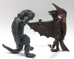 Let's dance ya'll (Infinite Hollywood) Tags: kaiju gamera gyaos daei revoltech japanesemonsters