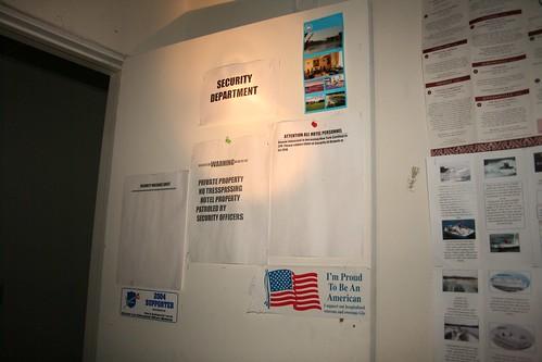Security department headquarters door