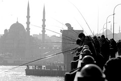fishers on the galata bridge (kaykanat) Tags: turkey streetphotography istanbul galatakprs pentaxk10d