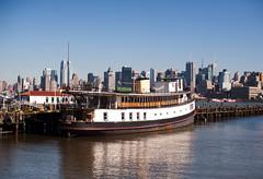 Historic 1907 Ellis Island Yankee Ferry (navid j) Tags: nyc newyorkcity home ferry boat ship houseboat historic hudson