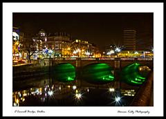 O'Connell Bridge, Dublin (Damo kelly) Tags: longexposure bridge dublin bus green reflections river liberty lights liffey oconnellbridge