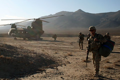 Delivering Holiday Presents (The U.S. Army) Tags: christmas sunset afghanistan soldier 4id kandahar 2bct warhorse 4thinfantrydivision 2ndbrigadecombatteam fobpacemaker