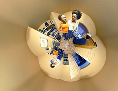Sisters Times Two (BongoInc) Tags: panorama sisters fisheye projection clones clone 360degree
