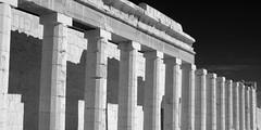 Abu Simbel IR (Ndecam) Tags: bw statue ir egypt temples infrared abu simbel abusimbel