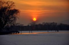 Summer Palace in winter (kingdomany) Tags: china park winter sunset lake snow tree beautiful frozen nikon scenery flickr wind beijing yiheyuan summerpalace d90 colorphotoaward
