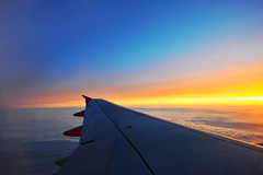 Heaven (Nick-K (Nikos Koutoulas)) Tags: sunset sky sun color berlin clouds plane germany wing east airbus 320 e19 schonefeld