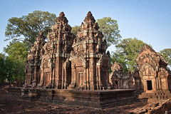 Little temple (flamed) Tags: thailand asia cambodia country angkorwat siemreap banteaysrei banteay srei